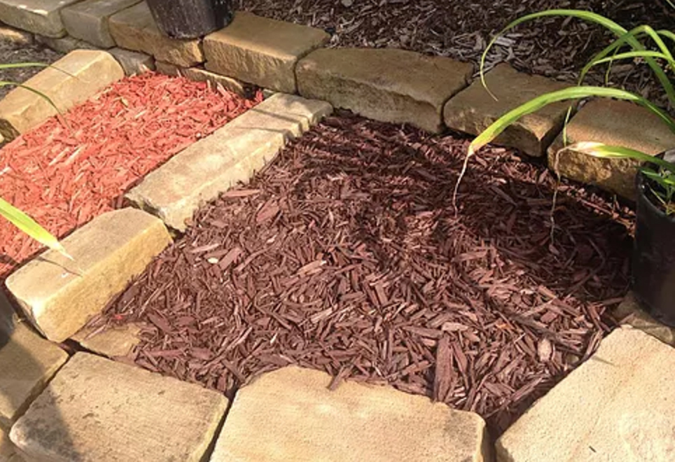 cocoa brown dyed mulch